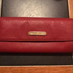 Michael Kors Wallet Red